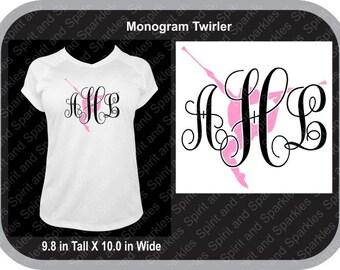 Monogrammed Twirler T-Shirt, Tank or Hoodie
