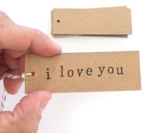 20 blank rectangular kraft tags  - gift wrapping tags - wedding tags - packaging tags - gift tags - wedding favor tags - brown kraft tags