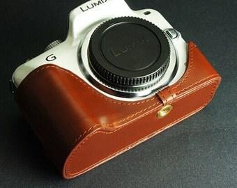 For Panasonic G3 Leather Cameras Case, Panasonic Lumix G3 Camera Case, G3 Case, Handmade Leather Camera Protector
