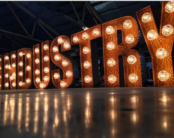 Tin Letters With Lights Marquee Letters  Etsy