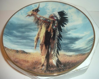 1992 Franklin Mint Spirit of the West Wind Plate w/ COA