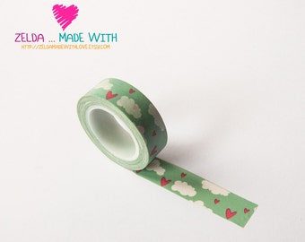 Japanese Washi Masking Tape - Clouds and Heart