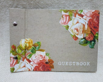 """Guest Book A5 """"Chloe Flowers"""" for Weddings, Engagements, Parties"""