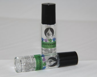 Pure Peppermint Essential Oil Blend Roll-On for Aromatherapy on the Go Roll-On 10ml (.33 oz) FREE SHIPPING SHIP
