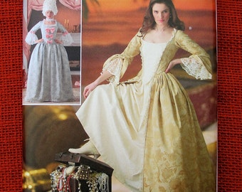Simplicity Costume Sewing Pattern 4092, Marie Antoinette Romantic Court Dress, Ball Gown, Plus Sizes 14 16 18 20, Historical Fashion, UNCUT