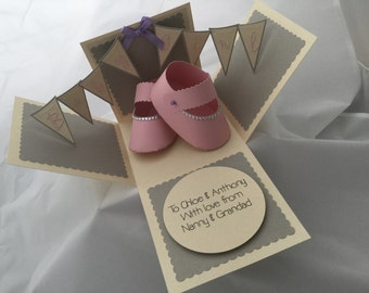 New baby box card