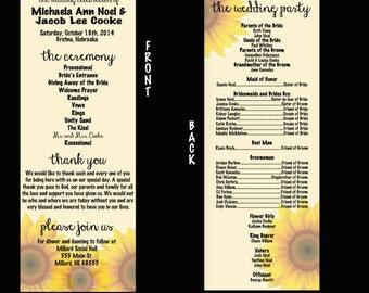 DIGITAL FILE Wedding Programs