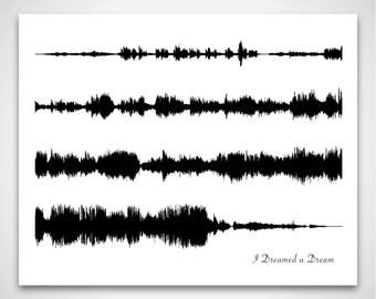 I Dreamed a Dream - Original Musical Soundtrack Recording - Song Print, Musical Sound Portrait and Fine Art