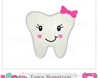 Tooth applique,Tooth embroidery,Tooth fairy design,Tooth design,Dentistry design,Teeth applique,tooth fairy,Embroidery Machine.-01