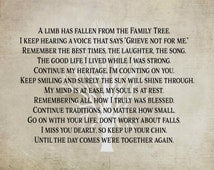 A Limb Has Fallen From Our Family Tree Wood Sign Canvas Wall Art Sympathy Gift, Christmas Gift, Family, Parent Memorial, Friend, Family Tree