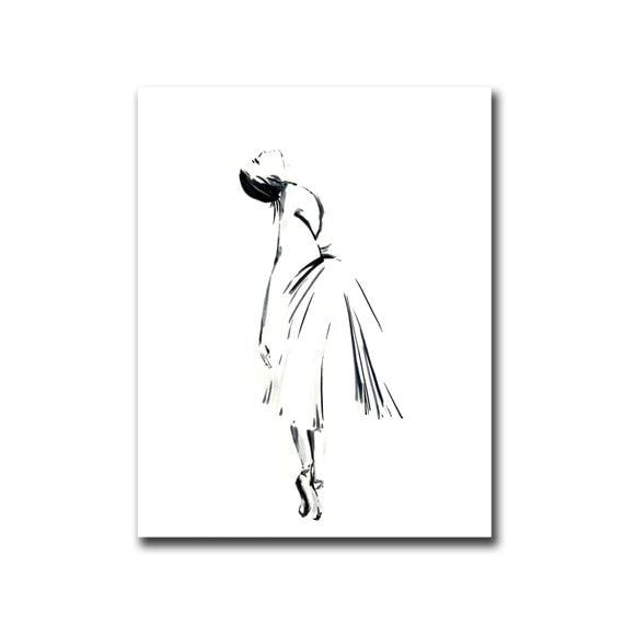 Items similar to ballerine dessin art print art for Dessin minimaliste