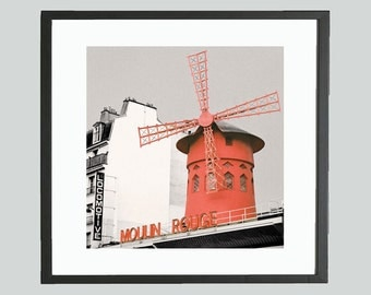 Moulin Rouge, Paris, Photographic Art Print, Abstract