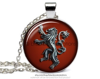 Game of Thrones Inspired House Lannister Necklace -  Handmade