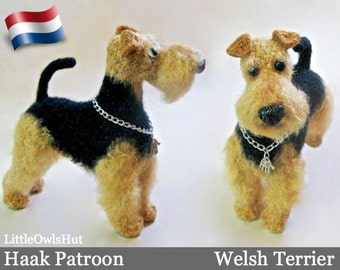 102NLY Welsh Terrier - Amigurumi Haakpatroon - PDF by Chirkova Etsy
