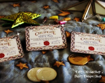 CUTE  EDITABLE MINI Tooth Fairy Certificate