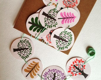 Enchanted forest wedding paper garland, party decor, room decor; free UK delivery