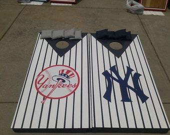 Yankees cornhole set