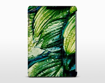 Raindrop Leaves Tablet Case, Tropical Decor, Ipad Air, Galaxy Tab, Kindle Fire HD7