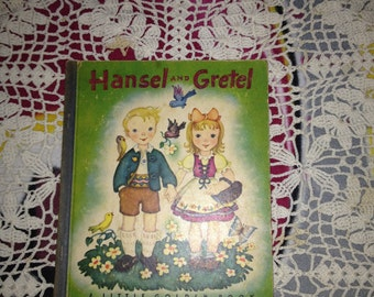 Vintage 1945 Little Golden Book HANSEL AND GRETEL ~ 1st Edition (Rare)
