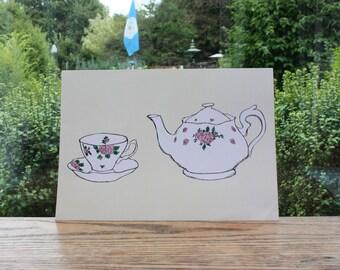 Tea Pot A4 Print