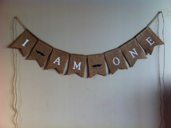 SALE! Ready to ship! Burlap birthday banner, cake smash, first birthday