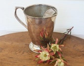 Tarnished silver plate water jug Crusader Plate EPNS A1