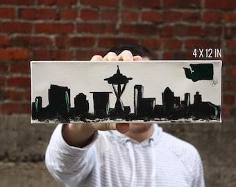 Seattle Skyline Canvas Acrylic Painting