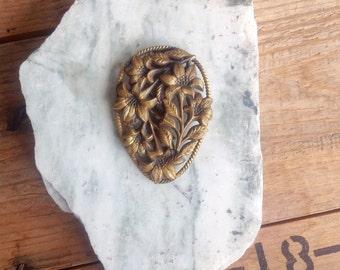 Antique Floral Hair Clip