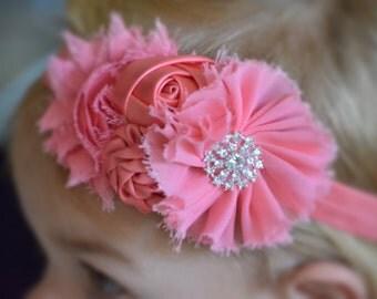 Coral Headband, Baby Headband