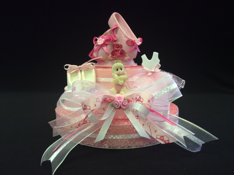 ballerina baby shower cake topper centerpiece decoration