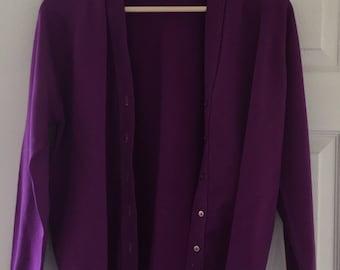Vintage Purple Cardigan