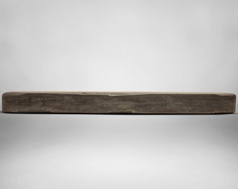 Weathered Grey Rustic Mantel