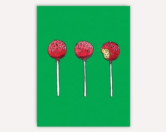 Cake Pops Holiday Card