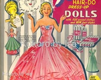 Vintage paper dolls, ebook Pattern, Instant Download, PDF (RM059)