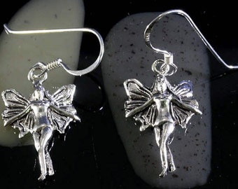 Elf earrings 925 sterling silver  --  6188