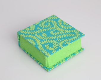 Lime and Blue Vines Box