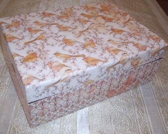 Wood Box, Storage Box, Keepsake Box, Decorative wooden box