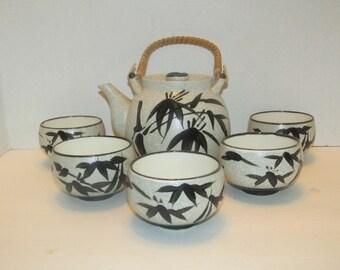 Vintage OMC Teapot and 5 Teacup Set / JAPAN / Tea Set / Cups
