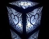 spider web heart gothic halloween wedding lanter centerpiece spooky paper luminary party light decore