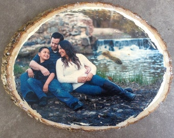 Custom Photo on Basswood Round.  Your photo on wood