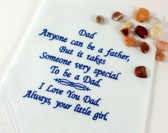 Handkerchief, Hanky for Dad, with a Sentimental Verse, from your Daughter.