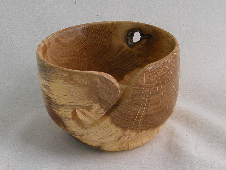 Knitting Bowls Wood : Wooden yarn bowl hand turned wood inch diameter