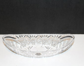 Fluted Vase Heavy Lead Crystal Cut Glass Vase With Etched