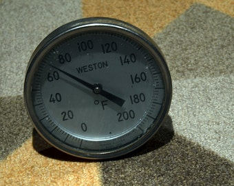 WESTON Large Thermometer Industrial Steampunk