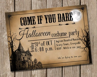Vintage Halloween Party Invitation