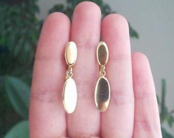 Vintage Golden Dangle Screw Back Clip on Earrings