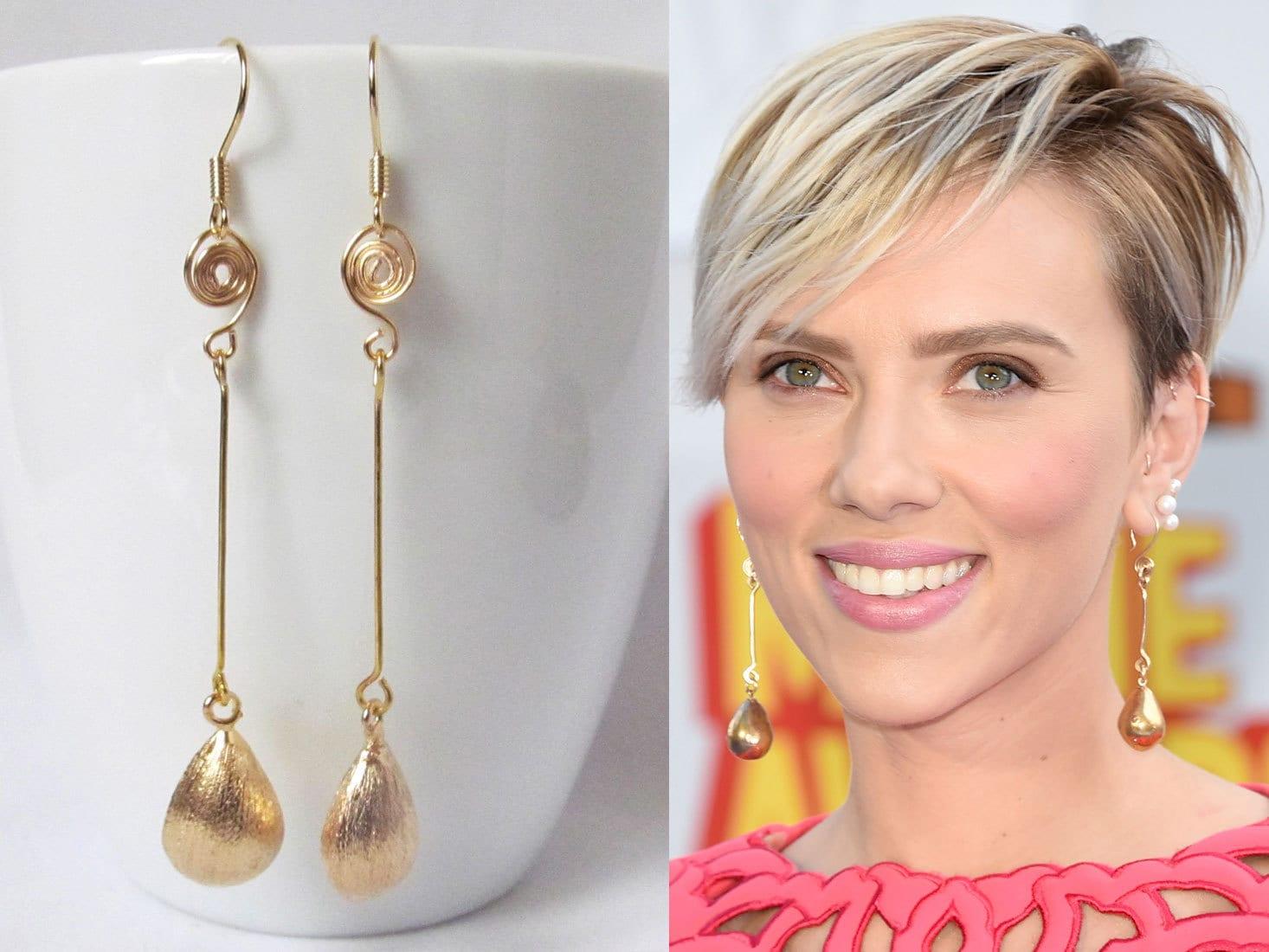 long drop earrings gold dangle - 233.1KB