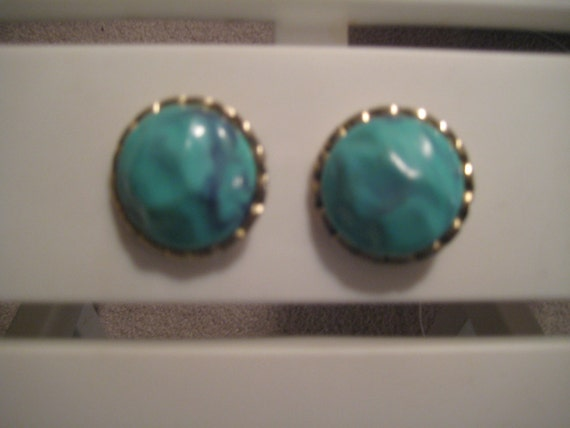 Blue Stone Vintage Earrings