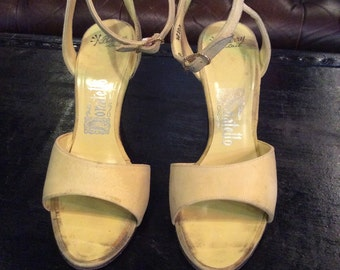 Vintage Donatello Barry Last size 6 1/2 high heeled pumps