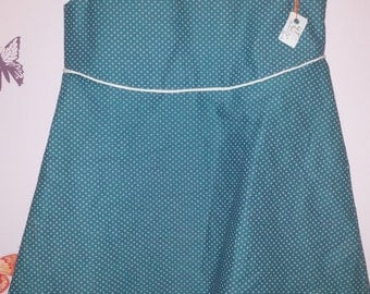 4T/5T Classy polka dot jumper dress and matching hairbow ready to ship